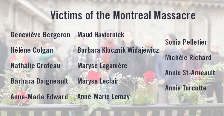 Victims of the Montreal Massacre