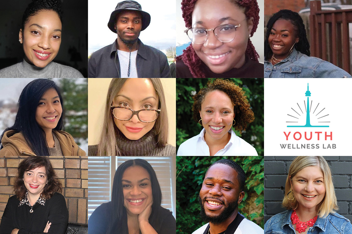 collage of the youth wellness lab members