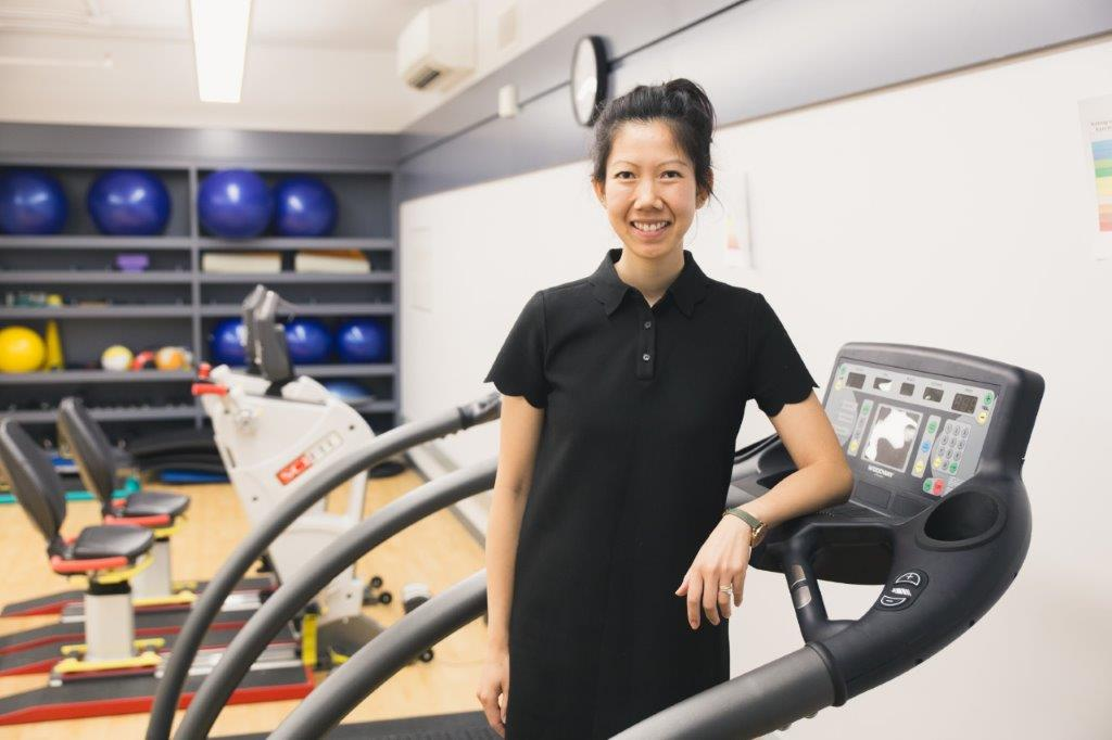 Linda Trinh pictured in a gym at KPE