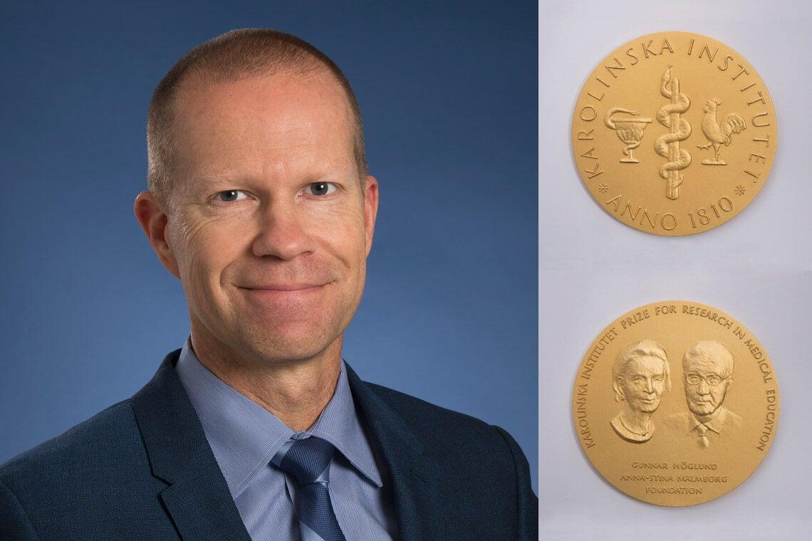 Brian Hodges and the Karolinska Prize medal