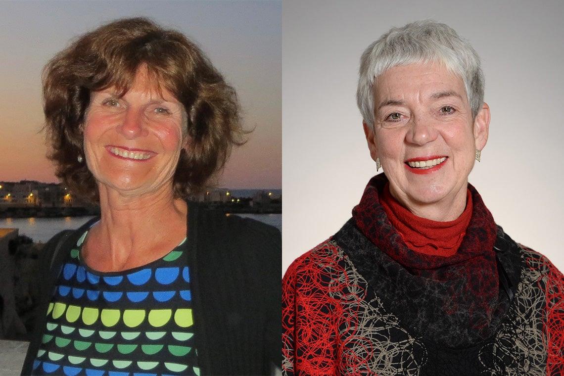 Maureen Cava and Susan Blue