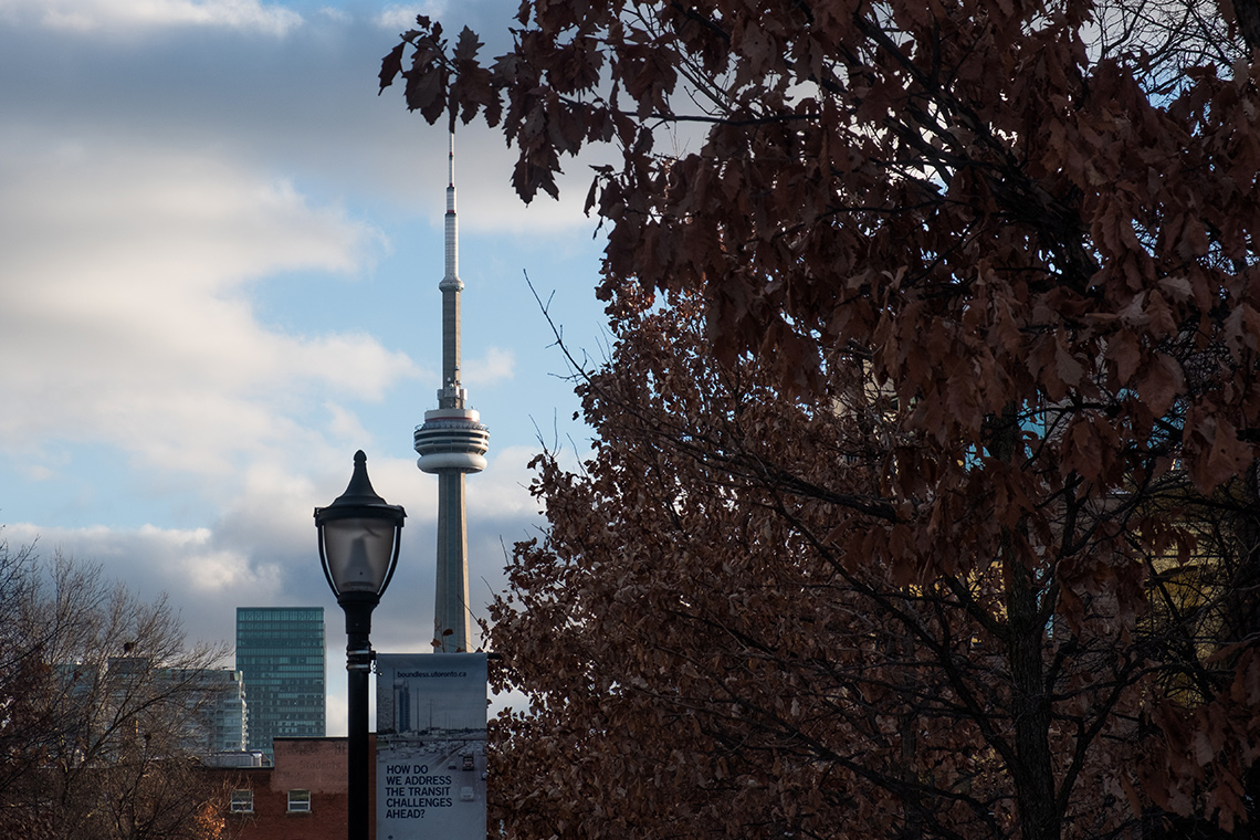 CN Tower viewed from U of T campus