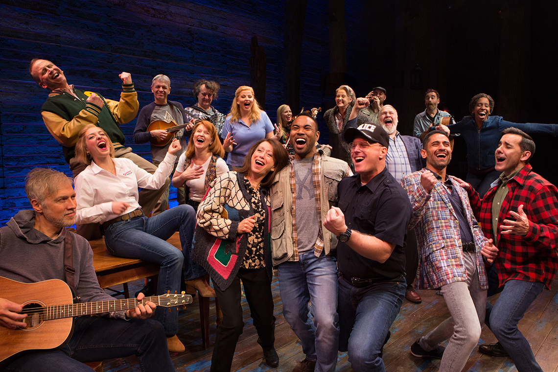Come From Away cast on stage
