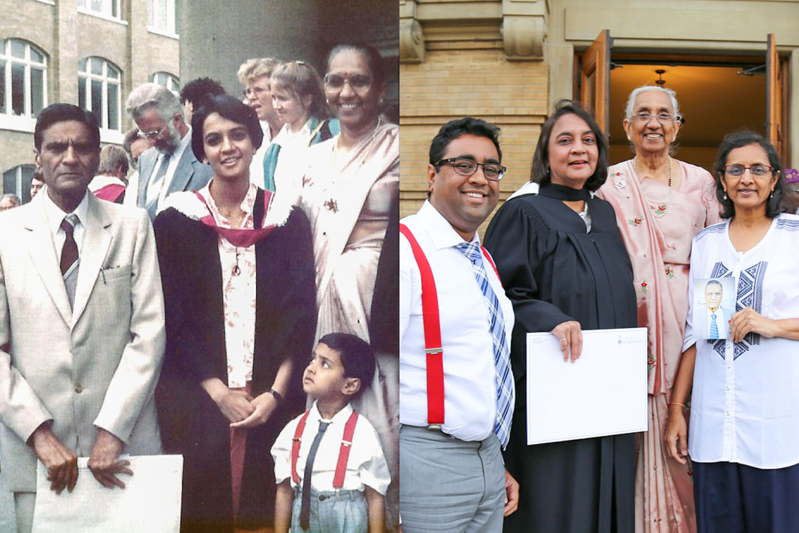 U of T grad recreates 31-year-old photo from her first graduation