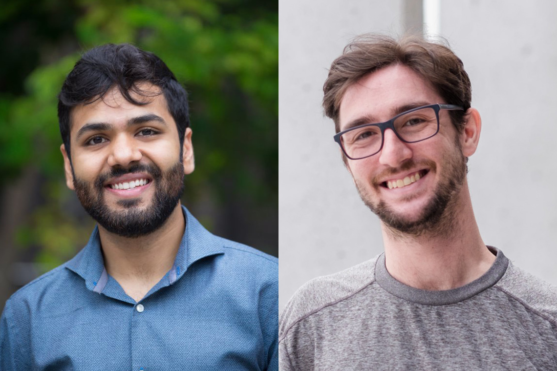 headshots of Kramay Patel and Chaim Katz