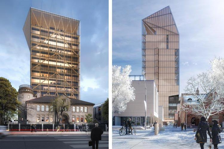 wood building renderings