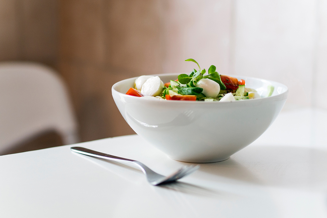 Photo of a bowl of salad