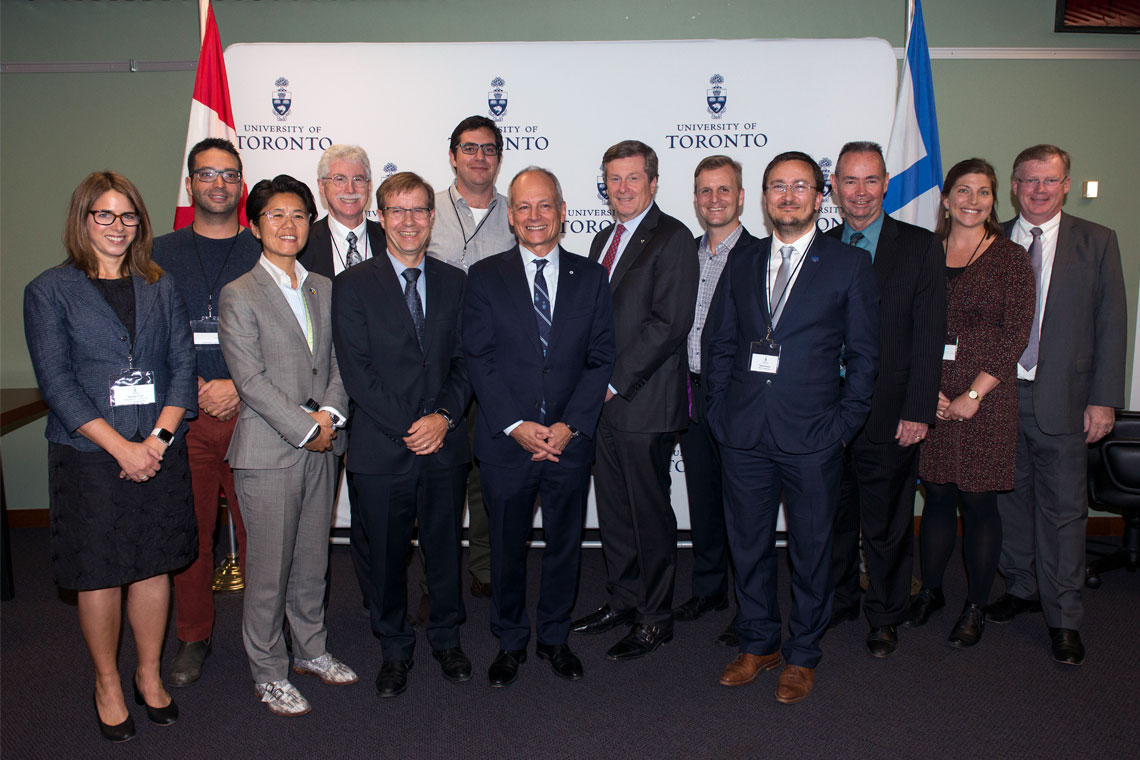 Group photo of U of T President and city councillors