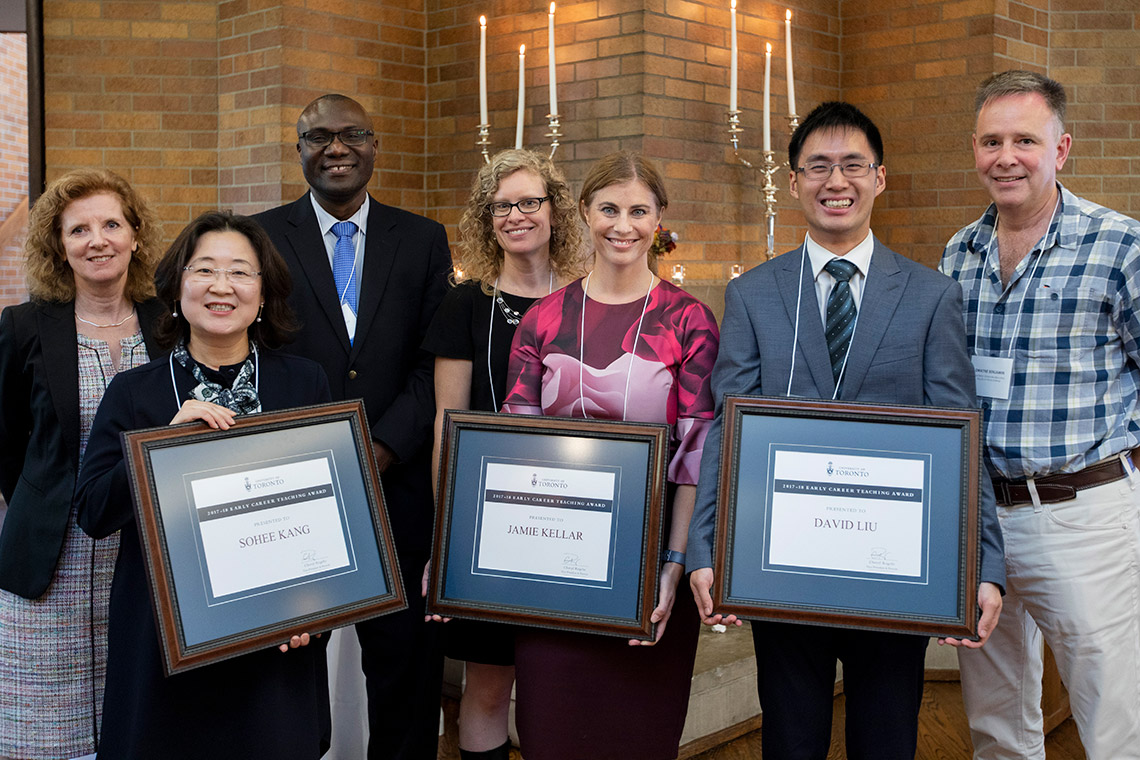 Early Career Teaching Award winners