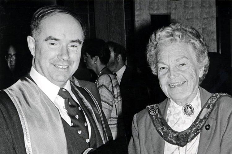 Photo of Desmond Morton with Hazel McCallion