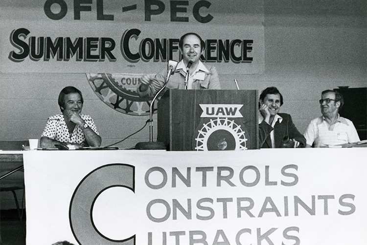 Desmond Morton at OFL-PEC Summer Conference