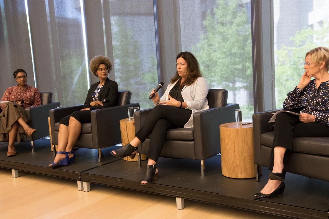 Photo of Charmaine Williams, Maydianne Andrade, Kelly Hannah-Moffat and Angela Hildyard