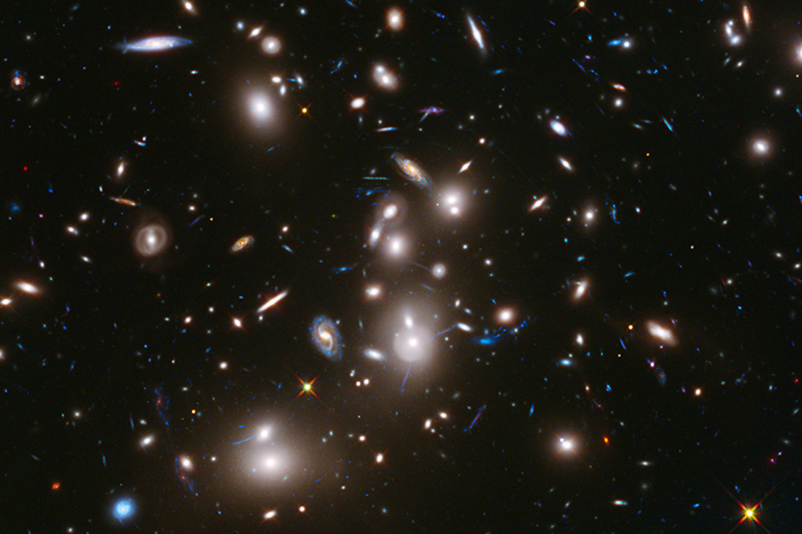 Photo of the galaxy taken by the Hubble telescope