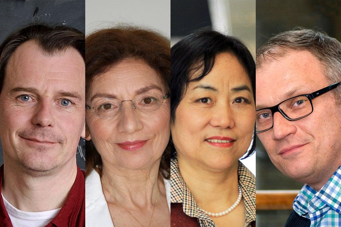 composite photo of Marten van Kerkwijk, Catherine Sulem, Xiao Yu (Shirley) Wu, Andrei Yudin
