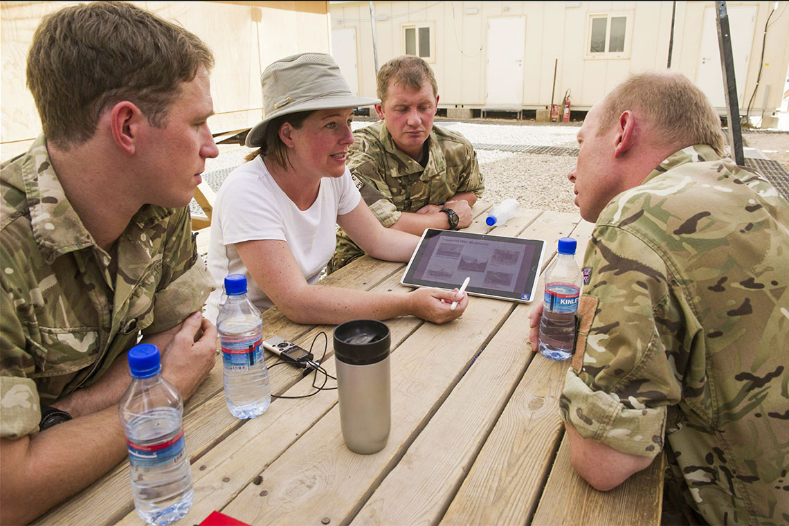 Laura Skidmore at Camp Bastion, Helmand, Afghanistan