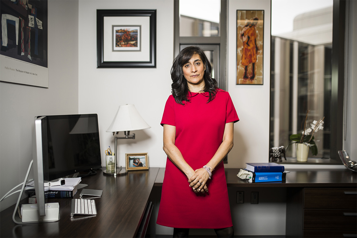 Anita Anand photographed in an office