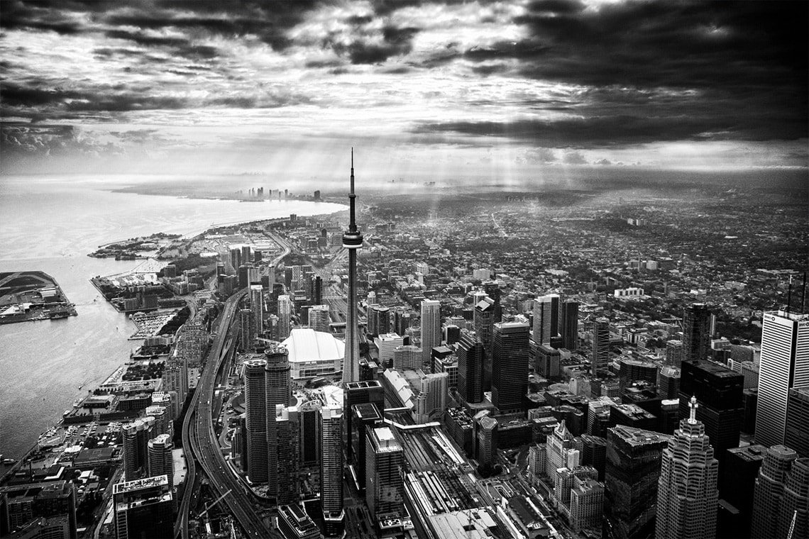 bird's-eye photo of Toronto