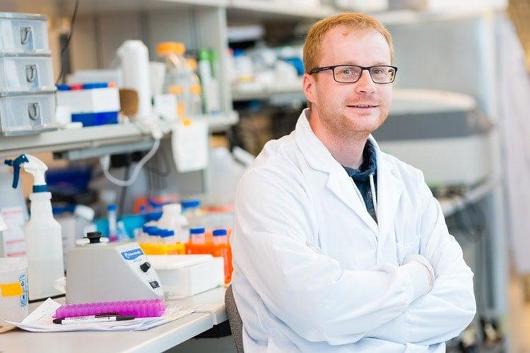 Stefan Wilhelm in his lab