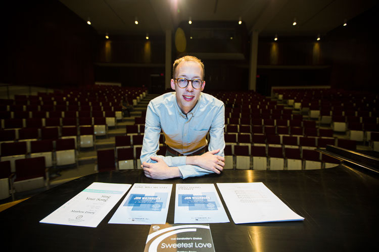 photo of Matthew Emery in concert hall