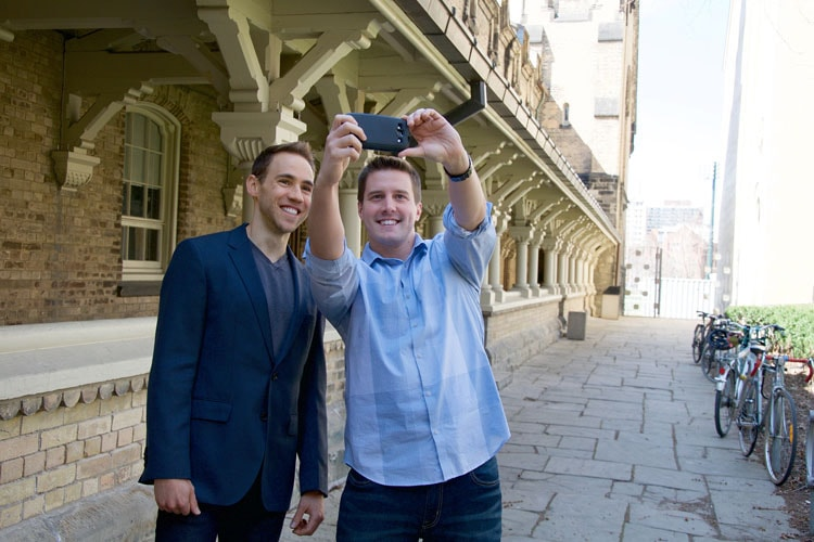Photo of Nicholas Rule and Daniel Re taking a selfie