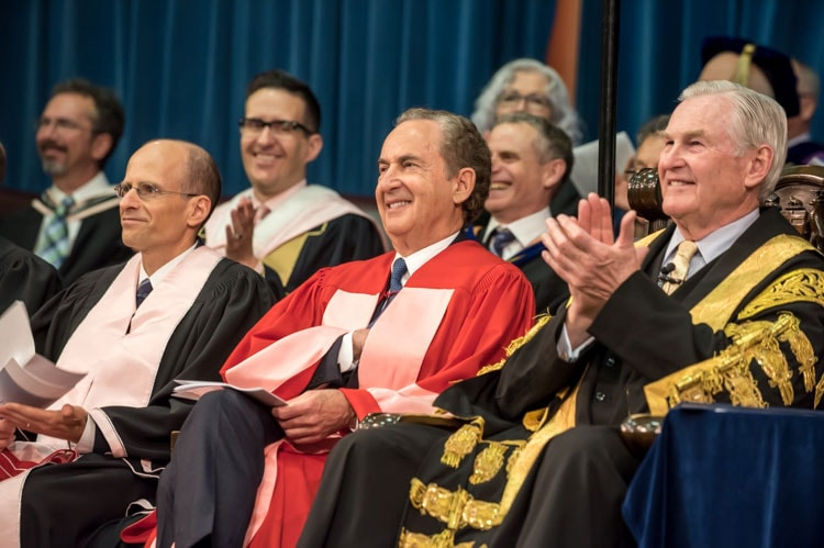 photo of Gerry Schwartz at convocation