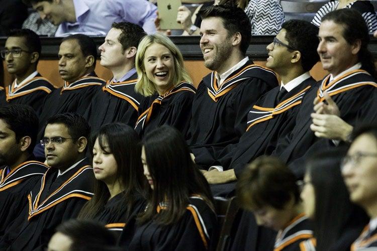 Rotman graduates at Convocation Hall