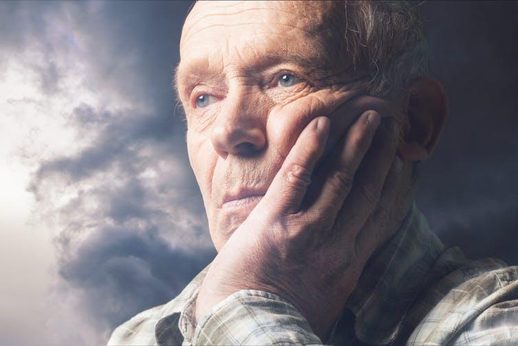Stock photo of elderly man