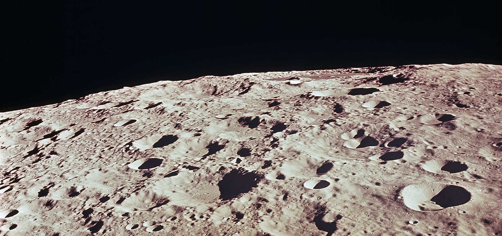 Photograph of the crated Moon surface