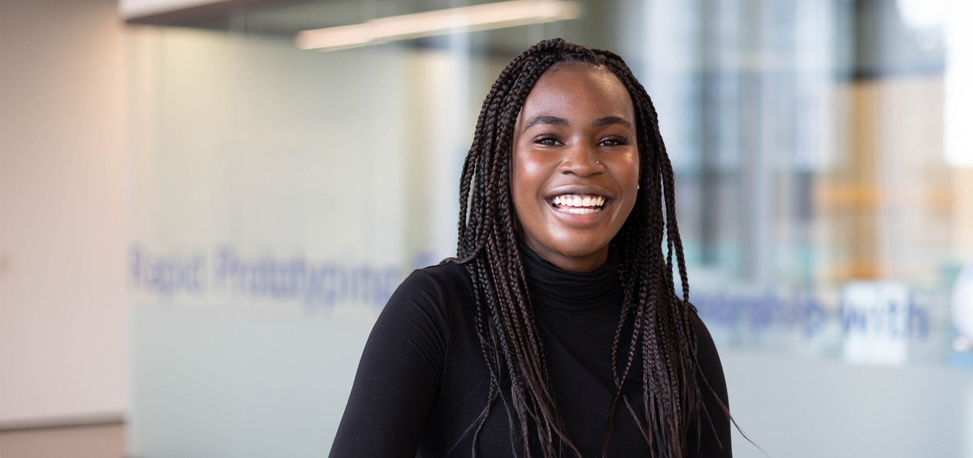 Stephanie Obeta, a chemical engineering student at the University of Toronto.