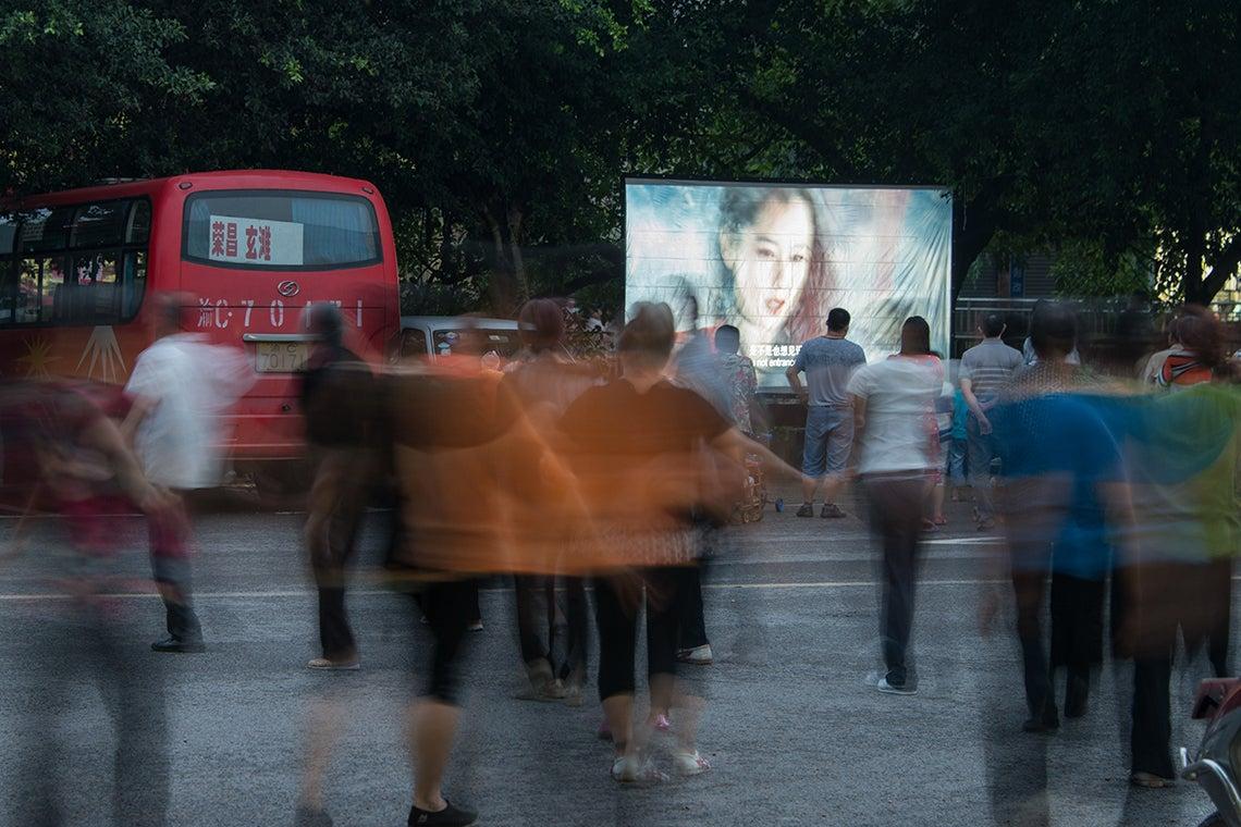 Mobile cinema in China