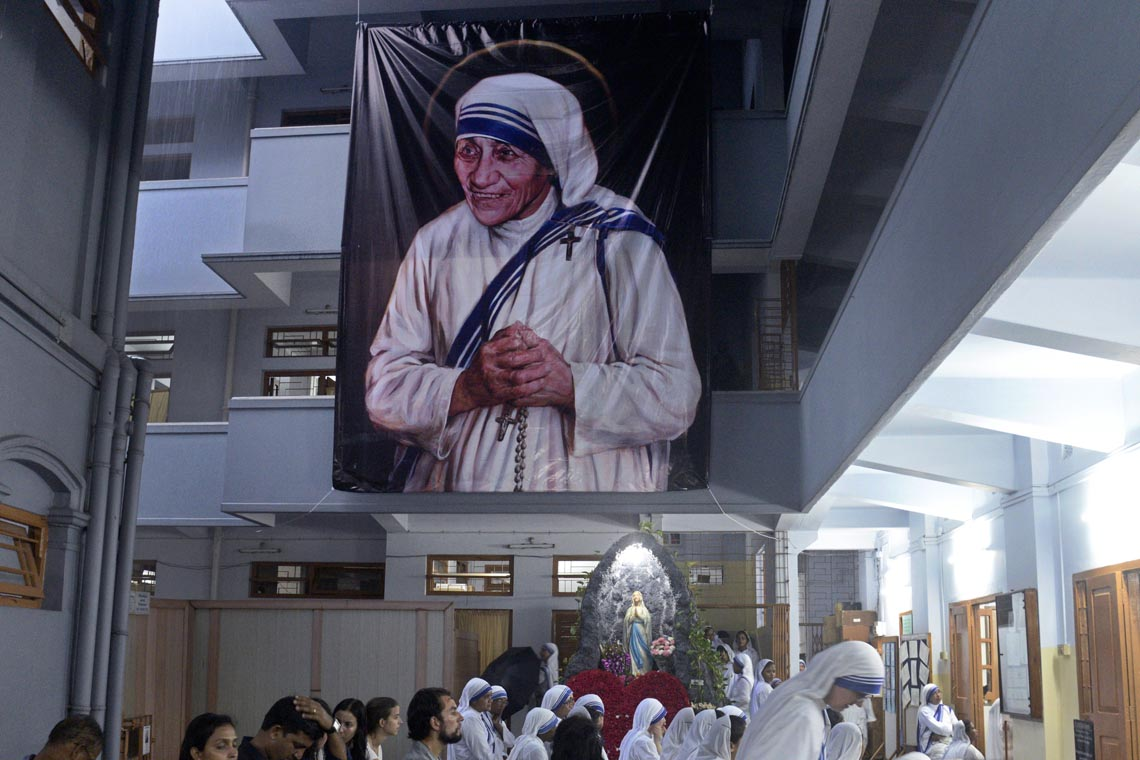 Solemnity mass organized at Mother Teresa's Tomb. Mother House during the observation of Mother Canonizations and death anniversary