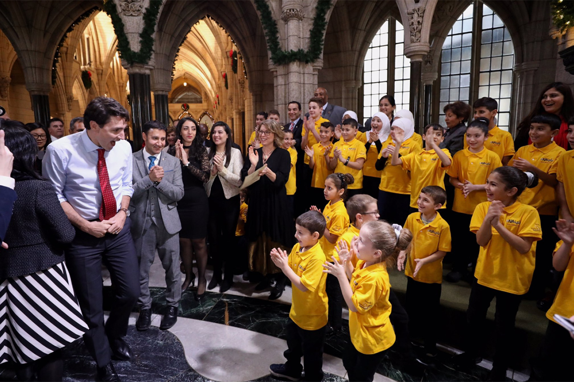 Nai Children's Choir and PM Justin Trudeau