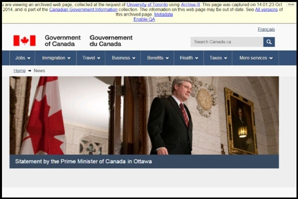 Harvesting the government web space
