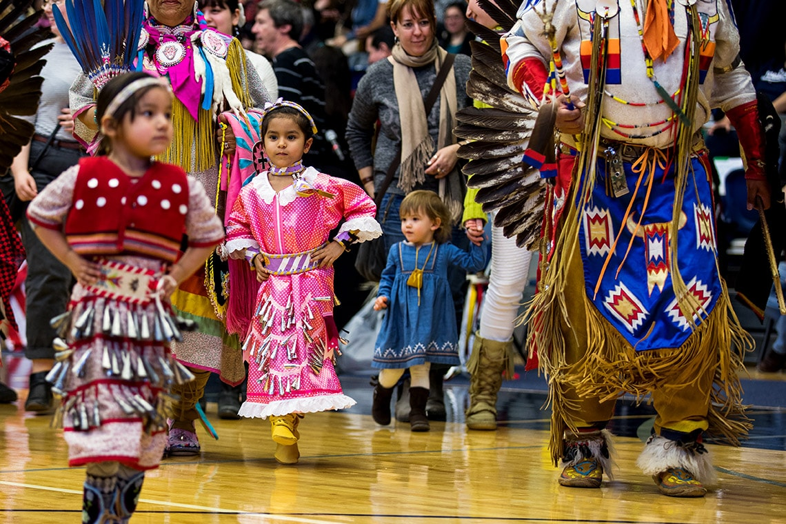 Photo of kids at powwow