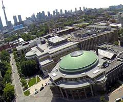 Birds-eye-view of Convocation hall