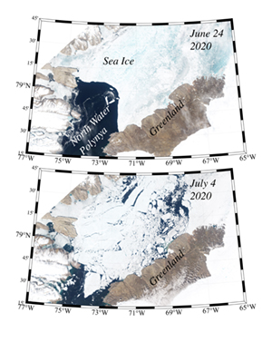 Southern ice arch in 2020