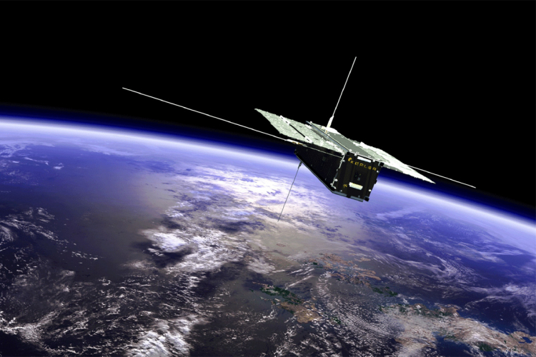 image of a satellite orbiting the Earth