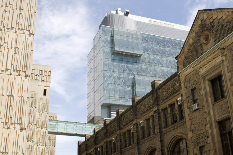 Medical Sciences, Donnelly and the Engineering buildings at the University of Toronto
