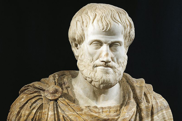 Photo of bust of Aristotle