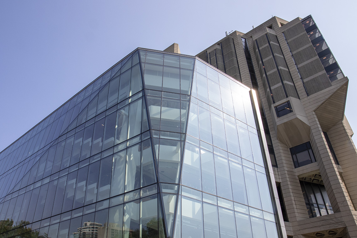 Exterior view of the new addition to the Morrison Pavilion at Robarts Library