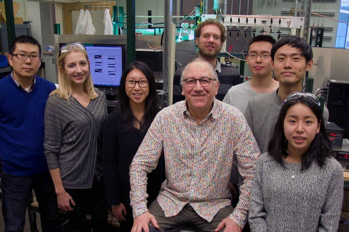 Photo of Geoffrey Ozin with researchers