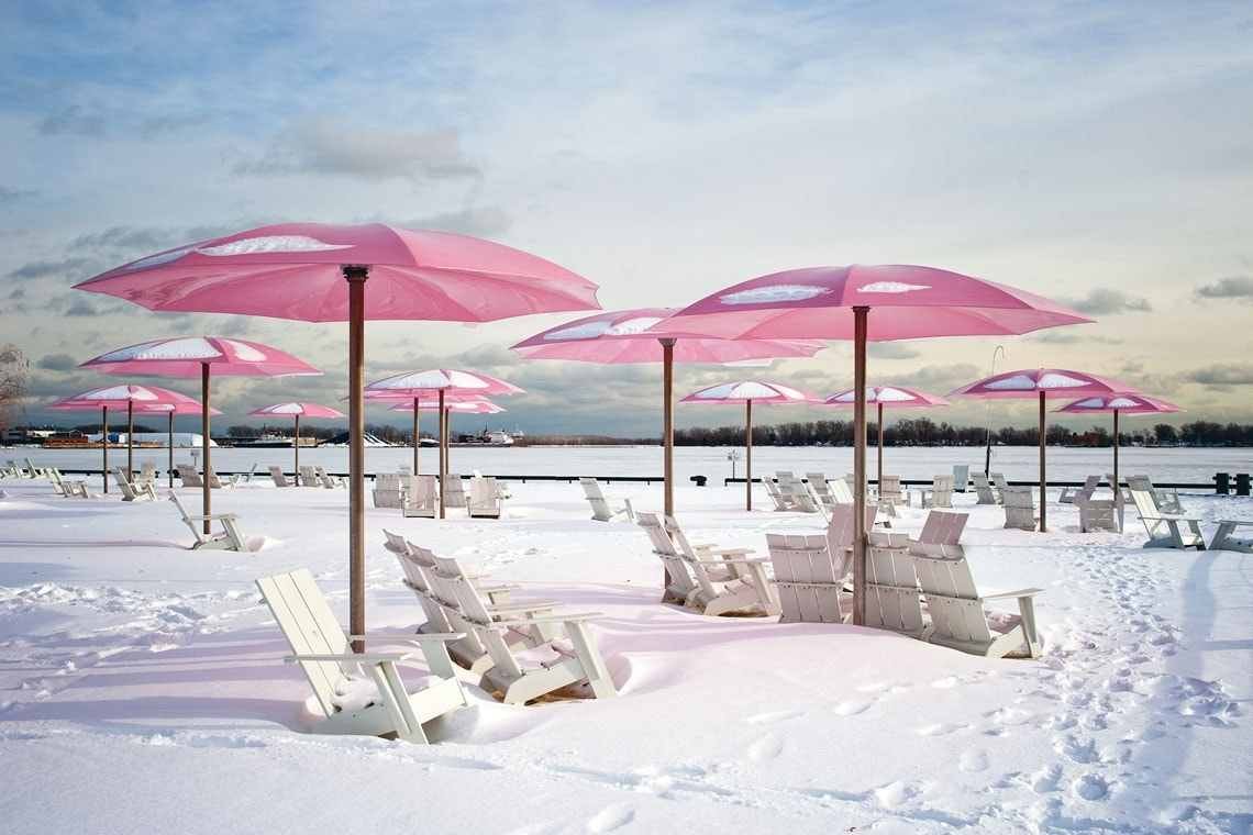 photo of Sugar Beach in snow