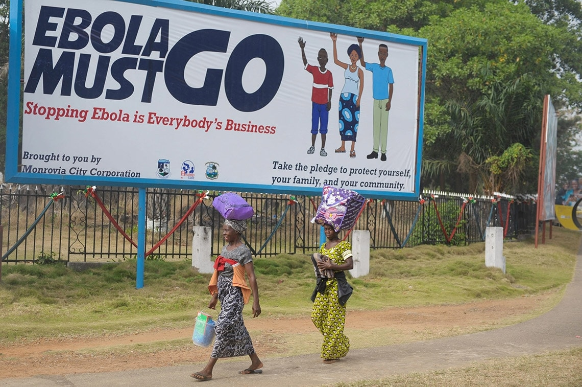 Photo of anti Ebola poster