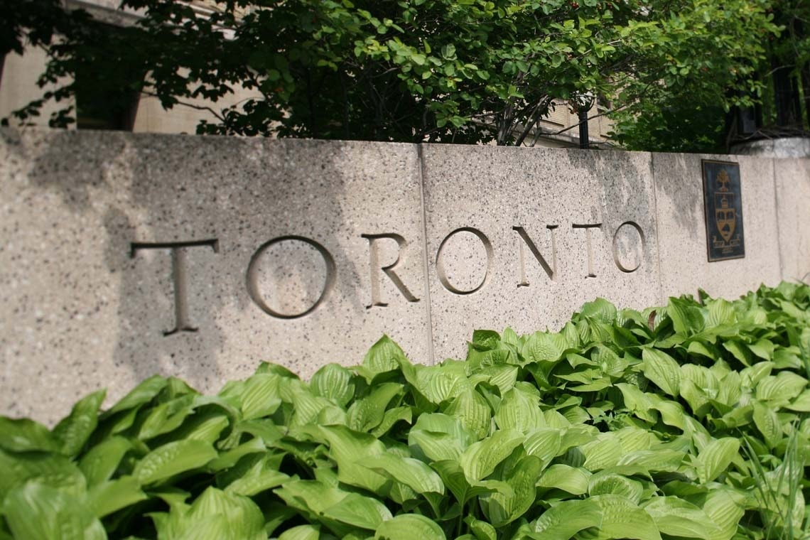 photo of University of Toronto sign