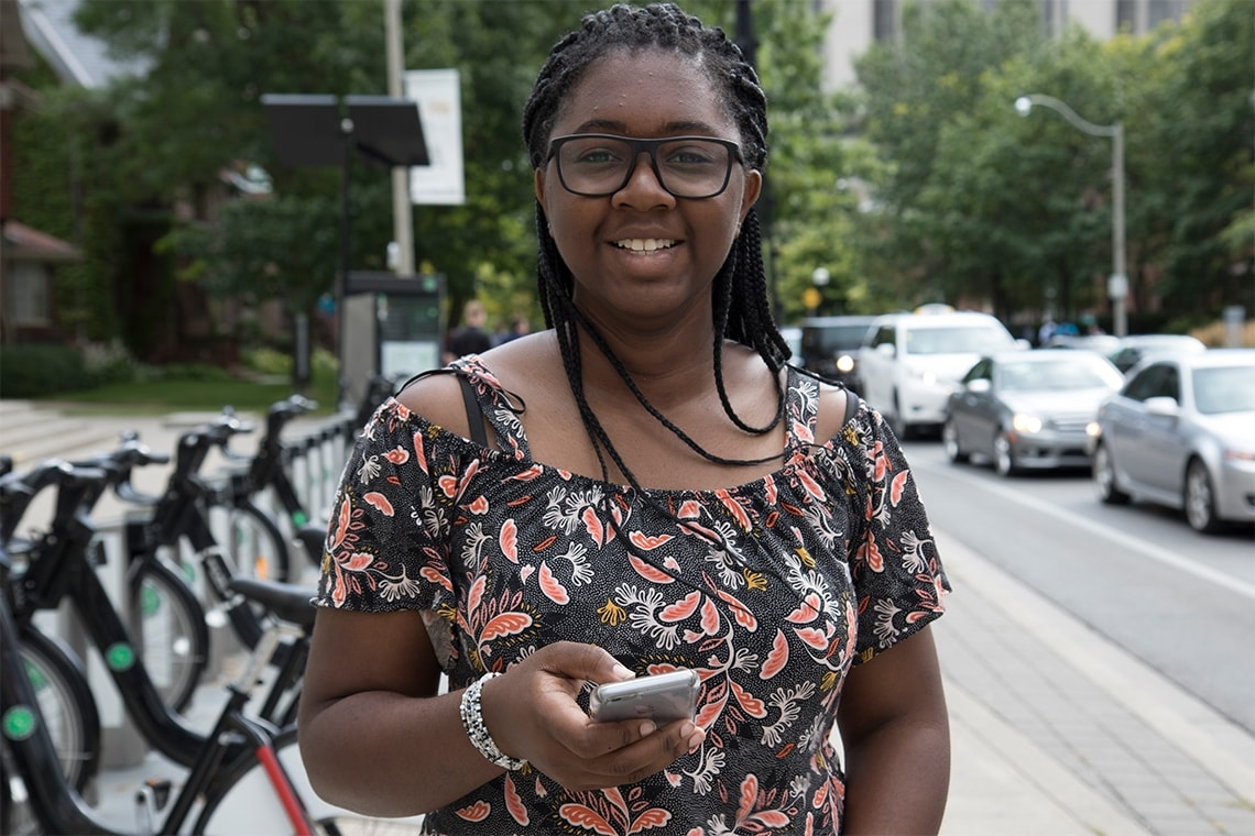 Janielle Palmer on St. George Street at U of T
