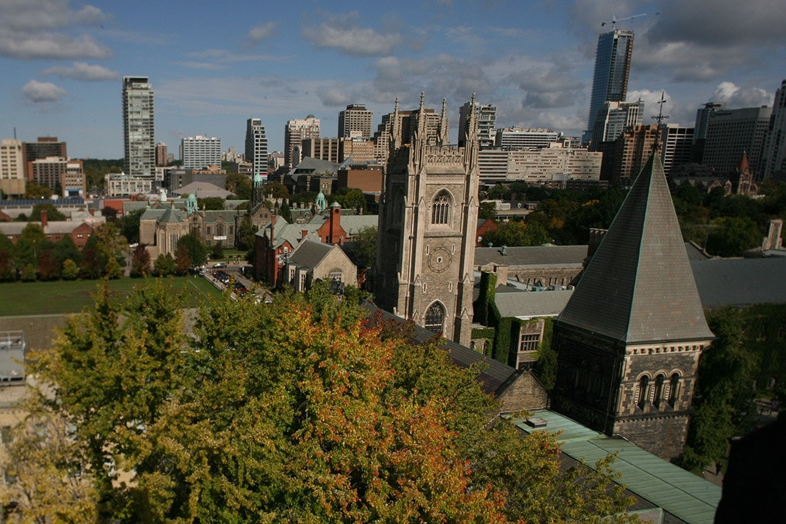 Photo of downtown Toronto university campus