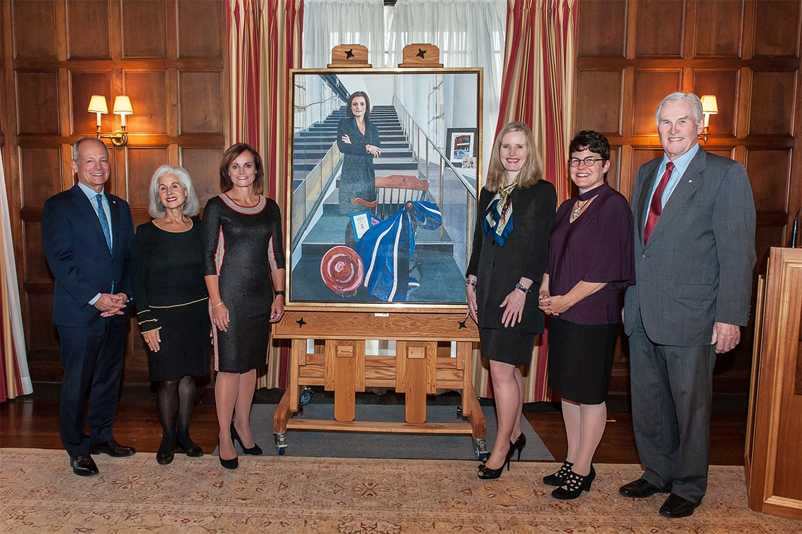Judy Goldring's portrait is unveiled at U of T