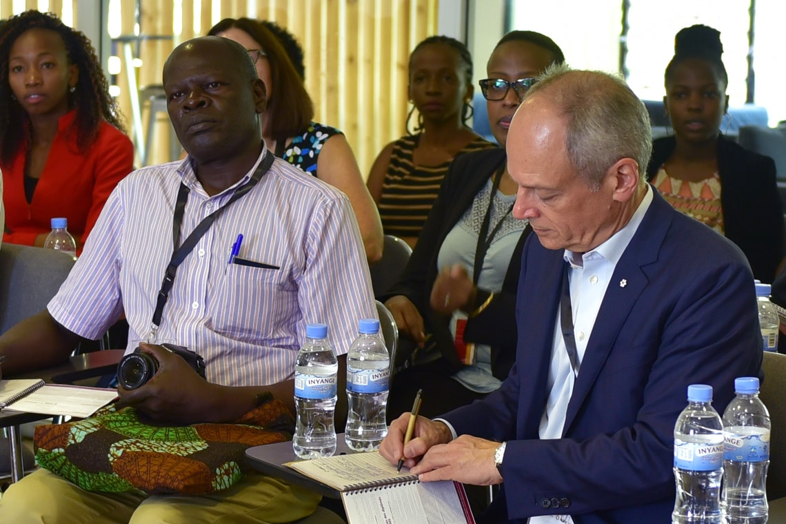 photo of president gertler in Rwanda