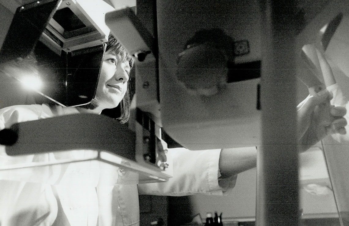 Photo of mammogram tech