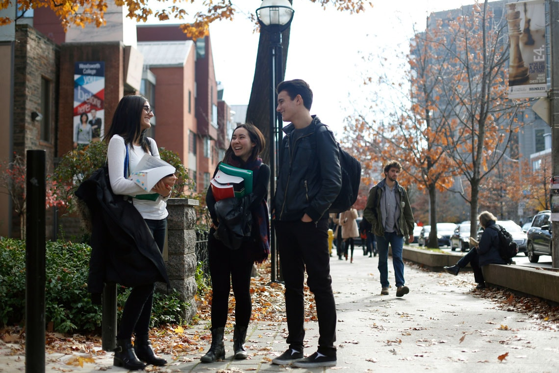 photo of students on St. George Street